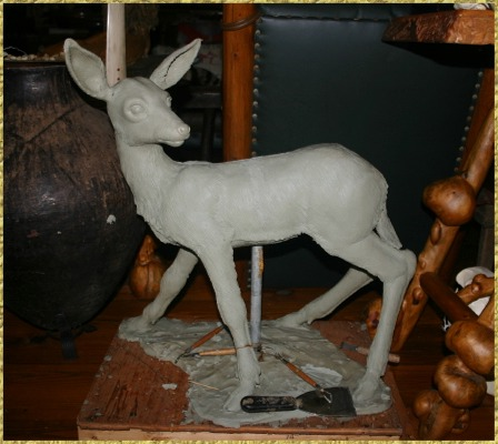 Fawn in clay